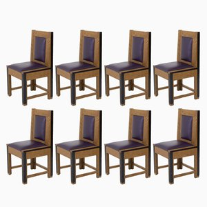 Art Deco Hague School Oak Chairs from Randoe, 1926, Set of 8