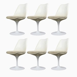 Chaises Tulipe par Eero Saarinen pour Knoll International, 1960s, Set de 6
