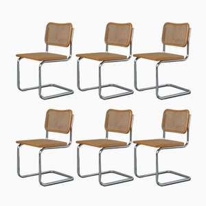 Vintage Cesca Chairs by Marcel Breuer, 1970s, Set of 6