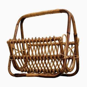 Porte-revues Vintage en Bambou, Italie
