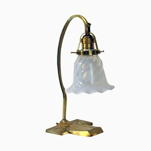 Lámpara de mesa vienesa modernista, década de 1900