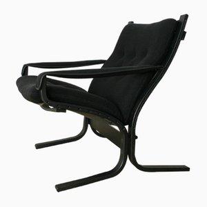 Chaise Siesta Noire par Ingmar Relling pour Westnofa, 1960s
