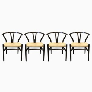 Vintage Model CH24 Y-Chairs by Hans J. Wegner for Carl Hansen & Son, Set of 4
