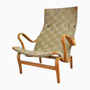 Mid-Century Pernilla Lounge Chair by Bruno Mathsson for Dux