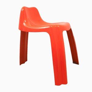 Sedia arancione di Patrick Gingembre per Paulus, anni '70