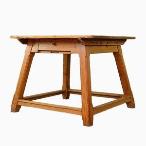 Mesa de comedor Arts & Crafts vintage de pino