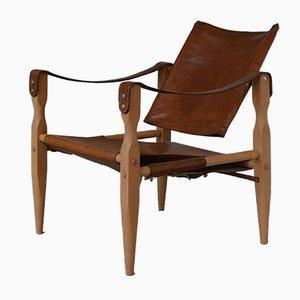 Danish Mid-Century Safari Easy Chair