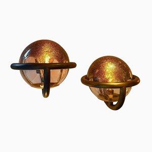 Apliques de cristal de Murano de La Murrina, años 80. Juego de 2