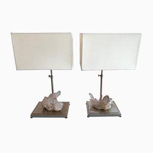 Lampade in cristallo di quarzo, anni '70, set di 2