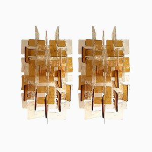 Sconces by Carlo Nason for Mazzega Murano, 1970s, Set of 2