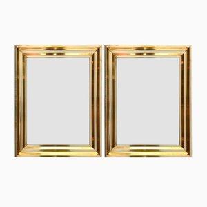 Specchi in ottone, Francia, anni '70, set di 2
