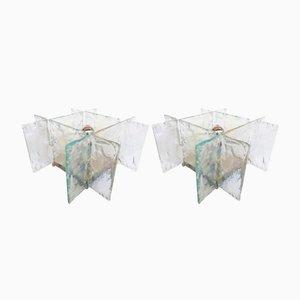 Lámparas de mesa italianas de cristal de Murano de Carlo Nason para Mazzega, años 70. Juego de 2