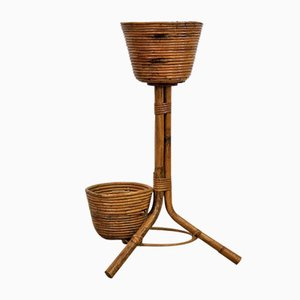 Florero vintage de bambú