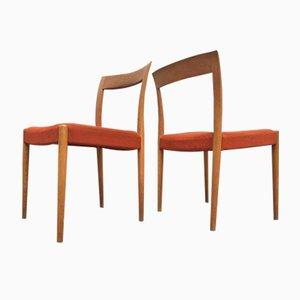 Dänische Eichenholz Stühle von Søren Willadsen, 1960er, 2er Set