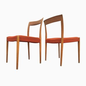 Danish Oak Side Chairs by Søren Willadsen, 1960s, Set of 2