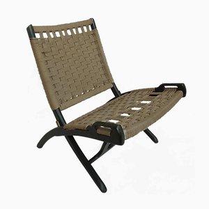 Chaise Pliable Vintage en Corde par Ebert Wels