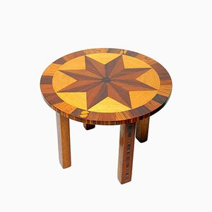 German Coffee Table with Compass Rose Top