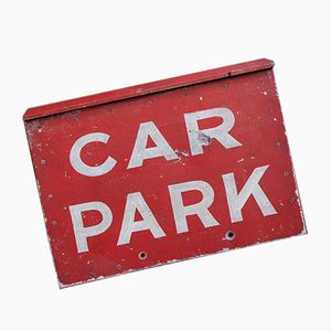 Affiche de Parking de Voiture Vintage Peinte à la Main, 1950s