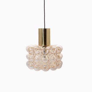 Vintage Bubble Glass Pendant by Helena Tynell for Limburg, 1960s