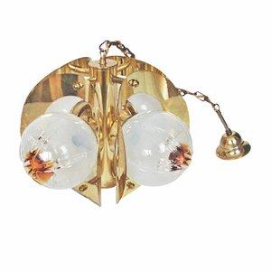 Lámpara colgante italiana de Mazzega, años 70