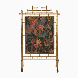 Faux Bronze Decorative Fire Screen, 1970s