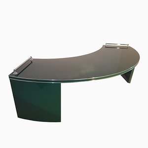 Large Art Deco Desk in Racing Green