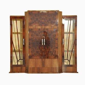 Mueble bar Art Decó de nogal