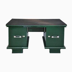 Scrivania Art Deco vintage in verde Jaguar