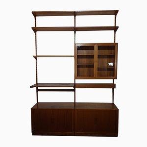 Mueble de pared modular de teca de Kai Kristiansen para Feldballes Møbelfabrik, años 60