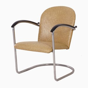 414 Tubular Armchair by W.H. Gispen for Gispen, 1960