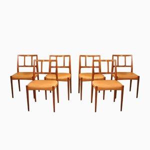 Chaises Vintage en Palissandre par Johannes Andersen pour Uldum, Set de 6