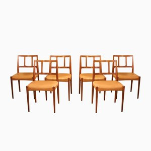 Vintage Rosewood Chairs by Johannes Andersen for Uldum, Set of 6