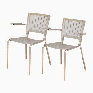 Züka Aluminum Stühle von Embru, 1948, 2er Set