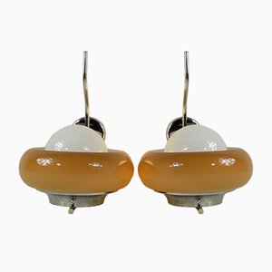 Italian Sconces by Harvey Guzzini for Guzzini, 1960s, Set of 2