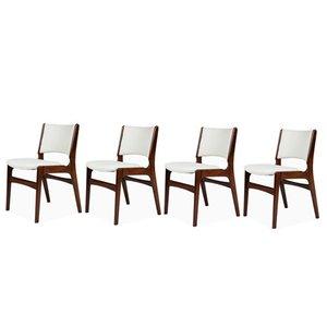 Stühle aus Massivem Palisander von Erik Buch, 1960er, 4er Set