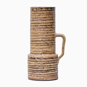 Vase Mid-Century Cylindrique par Halidun Kutlu pour Spara Schamotte Keramik