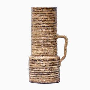 Zylinderförmige Mid-Century Vase von Halidun Kutlu für Spara Schamotte Keramik