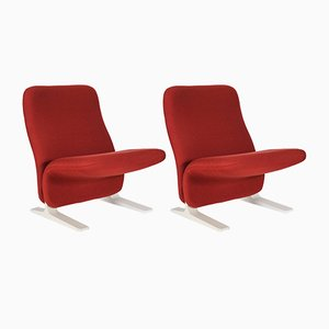 Vintage Concorde Easy Chairs by Pierre Paulin for Artifort, Set of 2