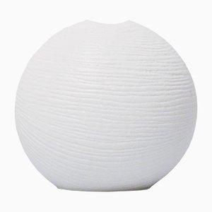 Weiße Halb-Lasierte Solifleur Vase von Werner Schreib für Rosenthal, 1968