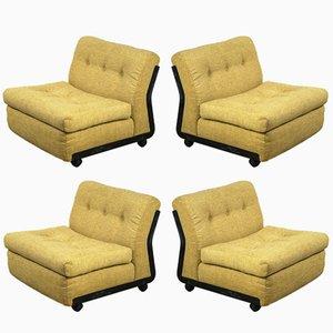 Vintage Amanta Stühle von Mario Bellini für B&B Italia, 4er Set