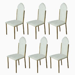 Vintage Dining Chairs by Alain Delon for Maison Jansen, Set of 6