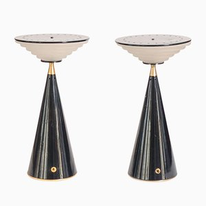 Ziggurat Table Lamps by Shigeaki Asahara for Stilnovo, Set of 2