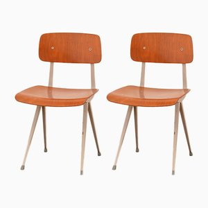 Vintage Result Chairs by Friso Kramer for Ahrend de Cirkel, Set of 2