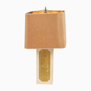 Lampe de Bureau Vintage en Marbre par Georges Mathias