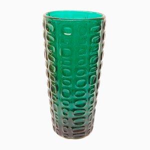 Polnische Vase von Jan & Eryka Drost für Glassworks Ząbkowice, 1960er
