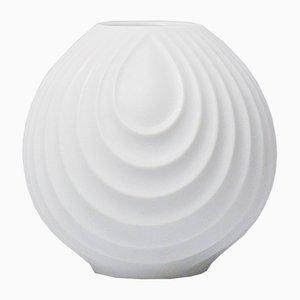 Weiße Op Art Relief Vase aus Biskuitporzellan von Werner Uhl für Scherzer