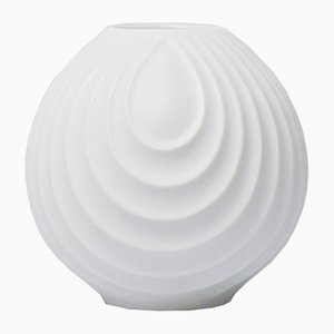 White Bisque Op Art Relief Vase by Werner Uhl for Scherzer