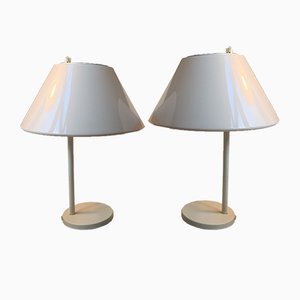 White Danish Minimalist Combi Table Lamps by Per Iversen for Louis Poulsen, 1980s, Set of 2