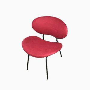 Cocktail Sessel aus Rotem Samt, 1950er