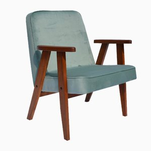 Mid-Century Light Green 366 Armchair by Jozef Marian Chierowski